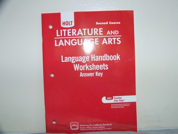 Souq Holt Literature And Language Arts California. This Item Is Currently Out Of Stock. Worksheet. Language Handbook Worksheets Answer Key Grade 9 At Clickcart.co
