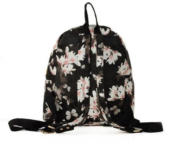 aef110febabc butterfly floral PU ladies fashion small backpack girl