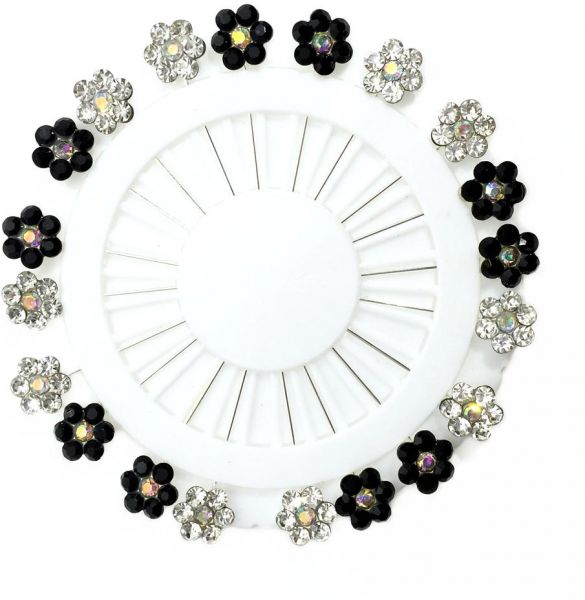 de8ce2aa03d2d Flower Crystal Hijab Brooches Pin for Women Safety Scarf Pins Hijab Pins  -Set of 20 [ TC013FS001-04]