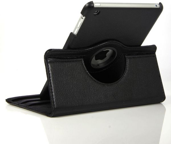 SAPUFLY : Black PU Leather 360 Degree Rotating Stand Case Cover for IPAD MINI -1-2-3 SAPU price, review and buy in UAE, Dubai, Abu Dhabi | Souq.com