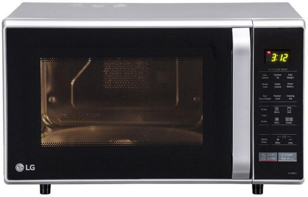 Lg 28 L Convection Microwave Oven Mc2846sl Silver