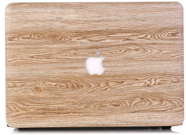 Wood Texture Pattern Coated Hard Case Shell Protective Cover For