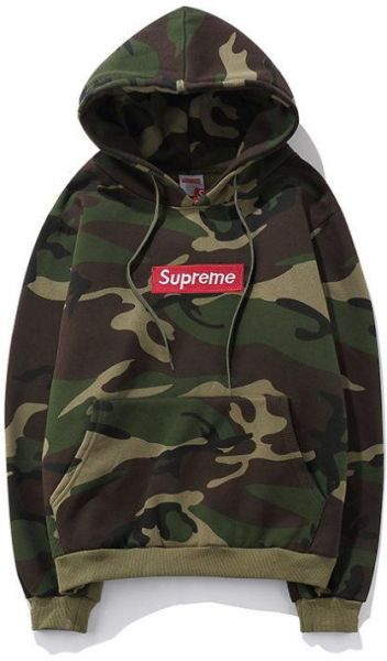 Supreme Army Green Round Neck Hoodie \u0026 Sweatshirt For Unisex
