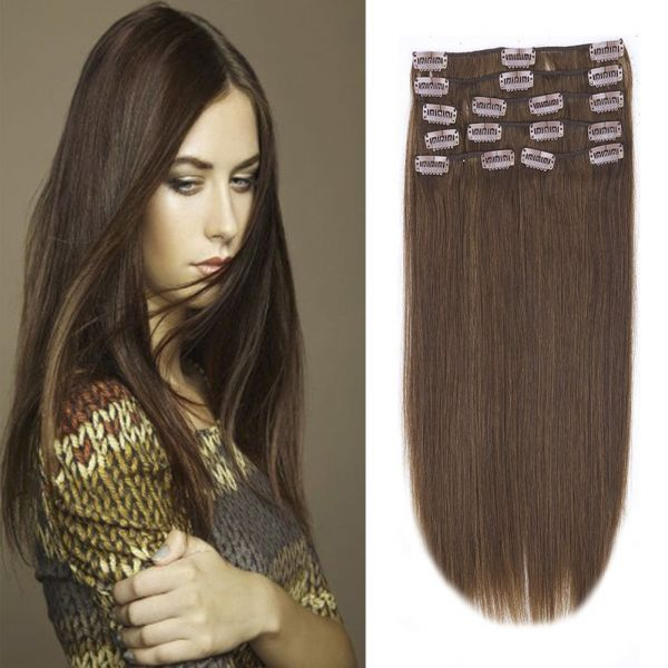 Souq Clip In 100 Remy Human Hair Extensions 10 24 Grade 7a