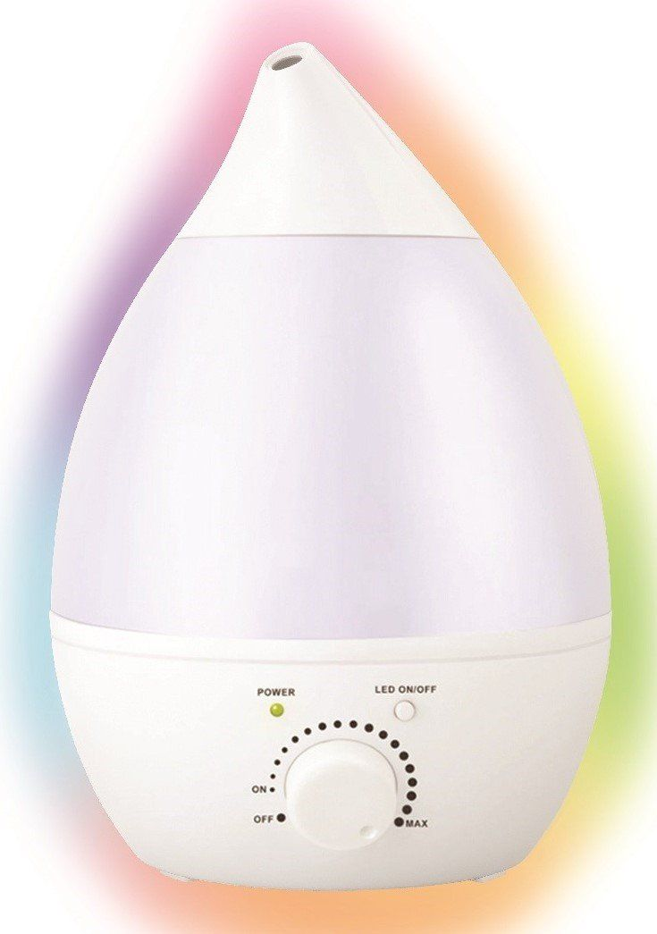 Humidifier Cool Mist Aroma Oil Diffuser Ultrasonic Adjustable Knob Control 360° Rotatable Output Ultra Quiet Automatic Shut-off Anti Mold 2.8 Liters 7 Color Night Light 20 Hour 110-240V, Home, Office