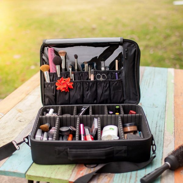New Best Professional Makeup Case Travel Bag Artist Cosmetic Train Organizer Perfect Gift