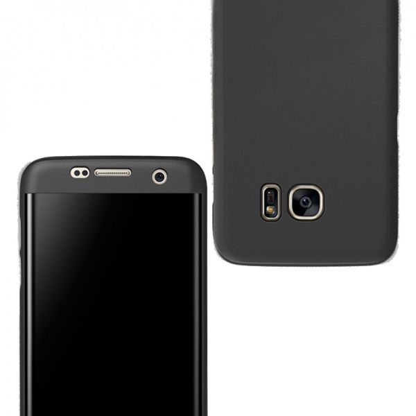 Samsung J7 Pro / J7 2017 case 360 Degree 2 pieces Silicon products front And back - Black | Souq - UAE