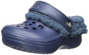 Fleecedawgs Clog (Toddler/Little Kid), Navy/White, 6 M US Toddler Dawgs