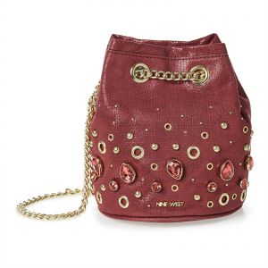 ... detailed images 159b2 e87b6 Nine West Bucket Bag for Women - Maroon ... 77ed978ad