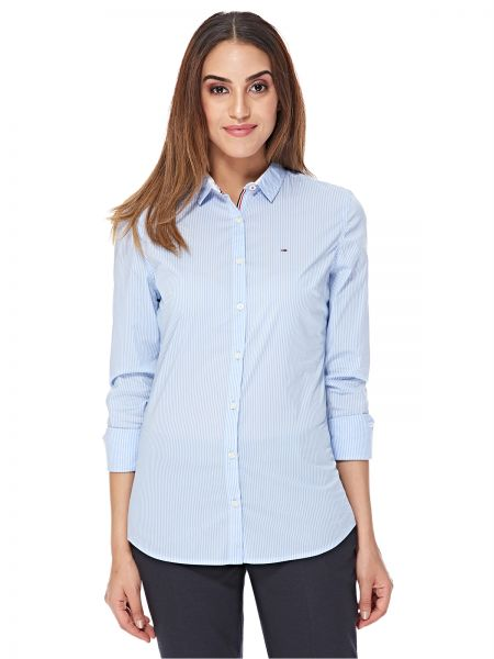Tommy Hilfiger Shirt For Women - Blue   White  137f212680