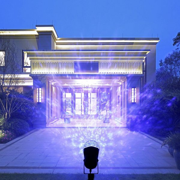 Party Dj Lights Magical Spotlight Rotating Led Projector Light With Flame Lightings Lightshow Projection For Indoor Outdoor Festival Decorations Home