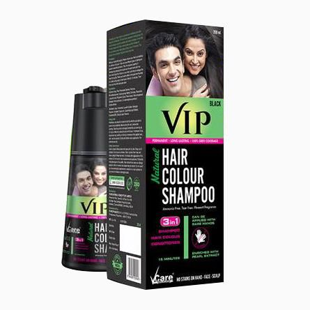 VIP Hair Color Shampoo For Hair, Beard and Body Hair, price, review ...