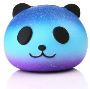 Cute Blue Panda Cream Scented Squishy Slow Rising Squeeze Kid Toy Phone Charm Gift