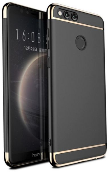 new concept 459f1 fe19c Huawei Honor 7x Hard Black Cover Case