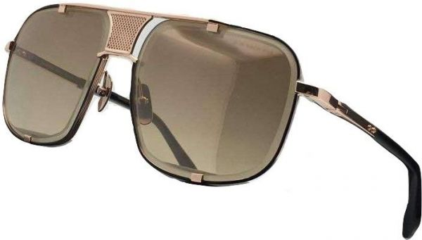 4f5e3ed9be Dita Mach Five 2087 Sunglasses in Gold brushed frame and Gold Flash Brown  Gradient Lens Unisex