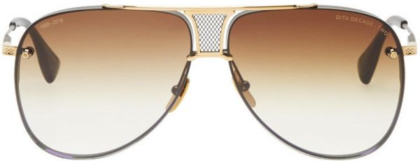 2ee270eeb8a2 Dita Decade Two DRX 2082 sunglasses in Gold brushed Matte Black Frame with Brown  Gradient Lens Unisex