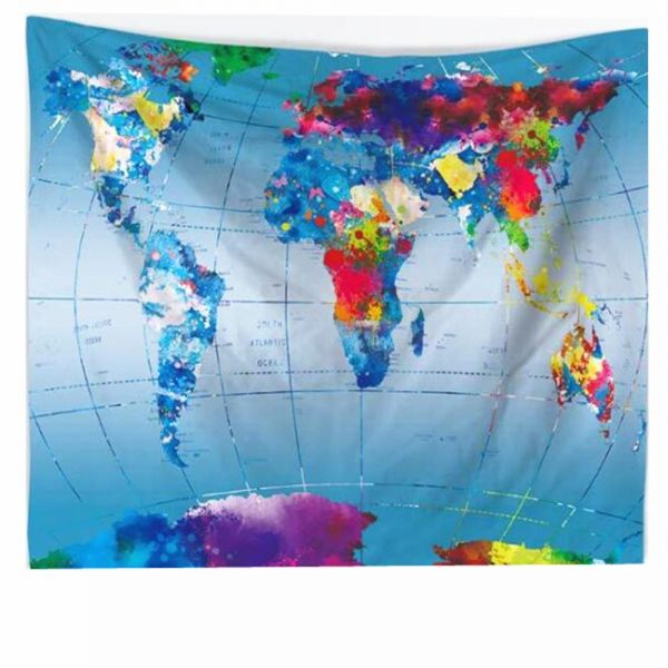 Souq world map wall hanging carpet beach towel throw picnic world map wall hanging carpet beach towel throw picnic blanket table cloth gumiabroncs