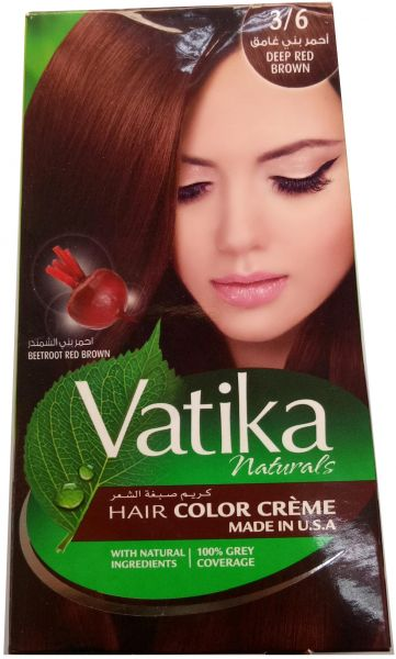 Vatika Natural Deep Red Brown Hair Color Creme 3 6 Souq Uae