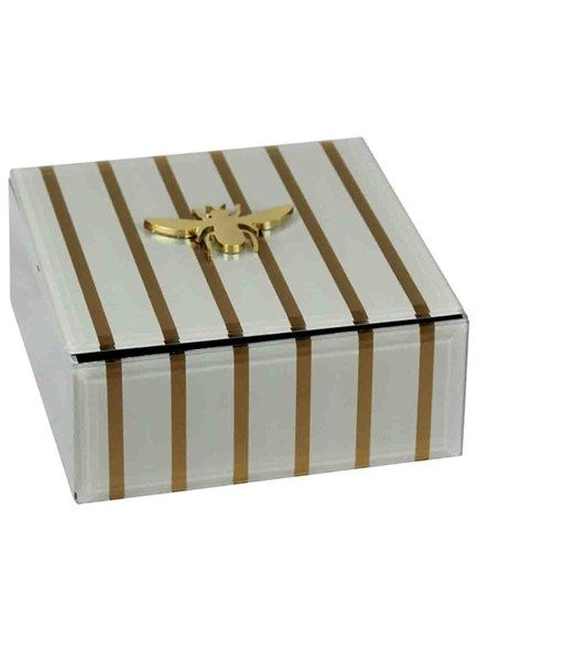 Where To Buy Decorative Boxes Inspiration Decorative Box With Bee Accent Whitegold Price Review And Buy Design Ideas