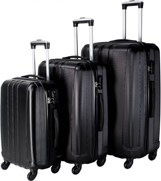 cb31513ef453 Travel Vision Luggage Trolley Bags Set Of 3 Pieces , Black - 100062500