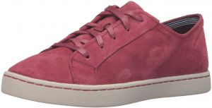 Hush Puppies Womens Ekko Gwen Oxford       Dark Red Suede       95 M US
