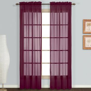 United Curtain Monte Carlo Panel Set 118 X 54 Red MC254BG