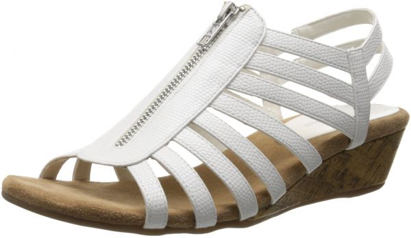 A2 by Aerosoles Women's Yetaway Wedge Sandal,White Snake,11 M US