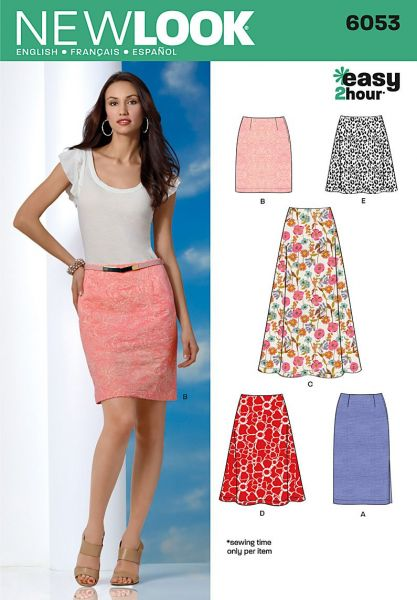 Souq New Look 6053 Misses Skirts Sewing Pattern Size A 8 10 12