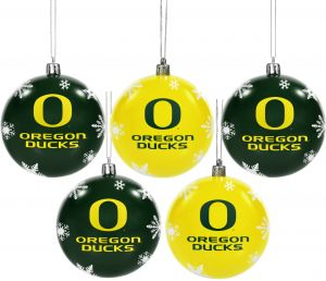 Oregon 2016 5 Pack Shatterproof Ball Ornament Set