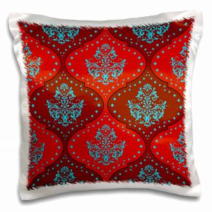 dooni designs damask designs dooni designs teal aqua blue red white henna damask pillow case 16 by 16 pc_116416_1