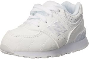 New Balance Boys\u0027 KL574, White/White, 5.5 W US Toddler