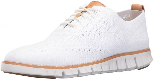 Cole Haan Men's Zerogrand Stitchlite Wingtip Oxford, Optic White/White, 9.5  Medium US