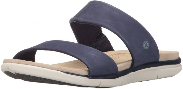 Hush Puppies Women's Reo Aida Slide Sandal, Navy Nubuck, 6.5 W US