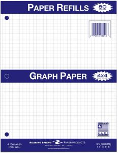 souq roaring spring 4x4 graph ruled filler paper 11 x 8 5 inches