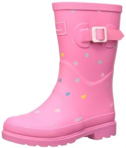 4de017459af186 Joules Girls  Printed Welly Rain Boot