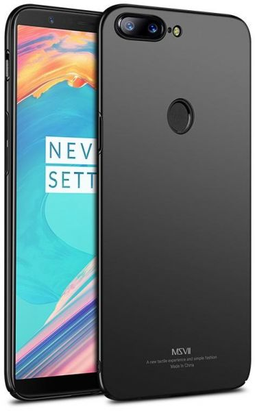 Back cover for OnePlus 5T All-inclusive Tpu hard cover phone shell slim  Matte anti fall case black