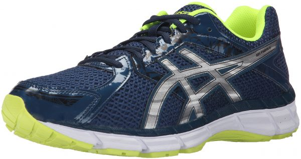 ASICS Men's Gel Excite 3 Running Shoe, Ink/Silver/Flash Yellow, 6 M US
