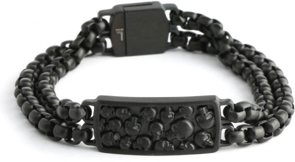 Police Bracelet For Men Stainless Steel Black P Pj 25698bsb 02 L
