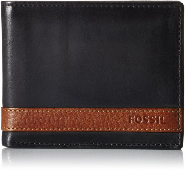 Sale on wallets fossil souq fossil mens quinn bifold with flip id black one size colourmoves