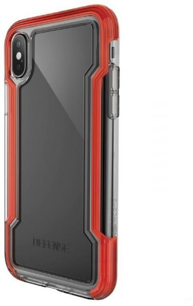 buy online d50ab 18ecb X-Doria Defense Clear - Apple iPhone X Case (Red)
