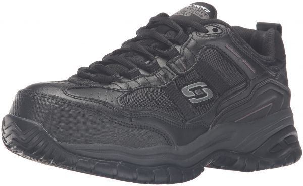 Skechers Men's Work Relaxed Fit Soft Stride Grinnel Comp, Black - 9.5 4E US