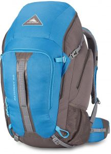 a9c3744a6b7 High Sierra Pathway 50L Top Load Internal Frame Backpack Pack ; High-Performance  Pack for Backpacking, Hiking, Camping, with Rain Fly, Mineral/Slate/Glacier