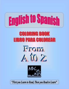 Coloring Book A To Z English Spanish