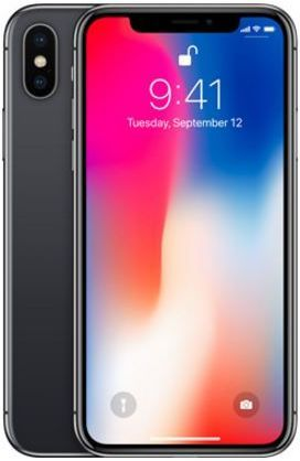 Apple Iphone X With Facetime - 64 GB, 4G LTE, Space Grey, 3 GB Ram, Single  Sim