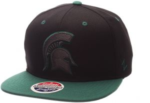 huge selection of 82b47 f86fd Zephyr NCAA Michigan State Spartans Adult Men s Z11 Phantom Snapback Hat,  Adjustable Size, Black Team Color