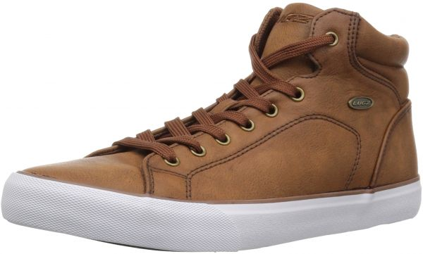 Mens King LX Sneaker, Coffee/White, 10 D US Lugz