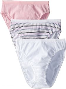 2c3e20f5a094 Fruit of the Loom Women's 3 Pack Assorted Cotton Hi-Cut Panties, Assorted, 8