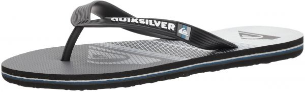 Quiksilver Men's Molokai Highline Slab Sandal, Black/Grey/White, 12 M US