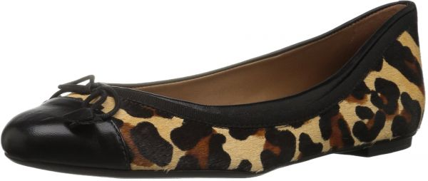 Buy French Donna Sole FS NY Donna French Yearbook Ballet Flat, Leopard, 9.5   568692