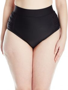 2bd9ba92cb0 Skye Women s Plus Size Waverly High Waist Bikini Bottom with Tummy Control